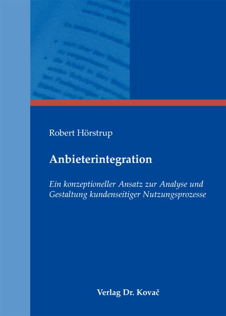 Cover: Anbieterintegration