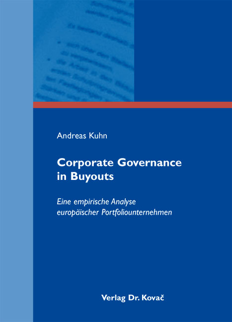 Cover: Corporate Governance in Buyouts