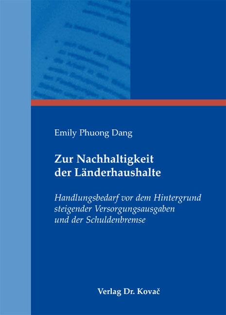 Cover: Zur Nachhaltigkeit der Länderhaushalte