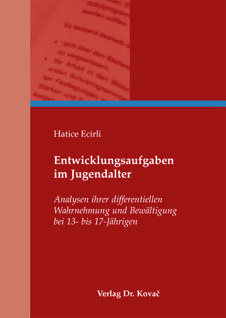 Cover: Entwicklungsaufgaben im Jugendalter