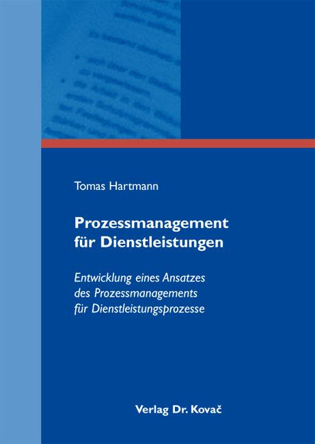 Cover: Prozessmanagement für Dienstleistungen