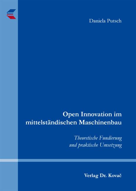 Cover: Open Innovation im mittelständischen Maschinenbau