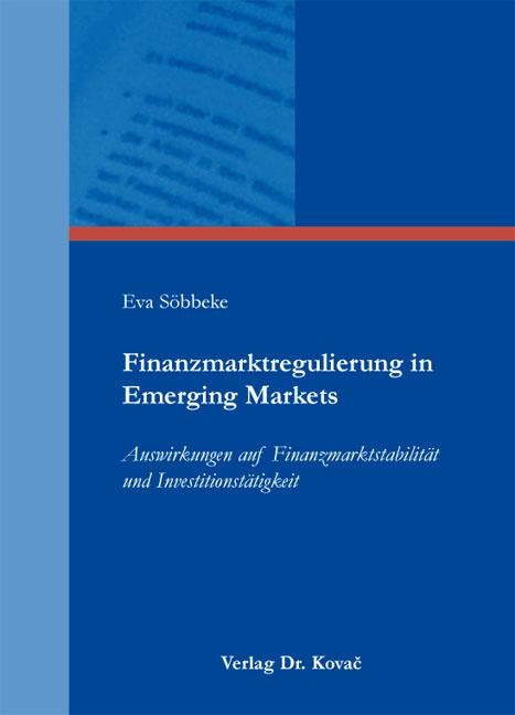 Cover: Finanzmarktregulierung in Emerging Markets