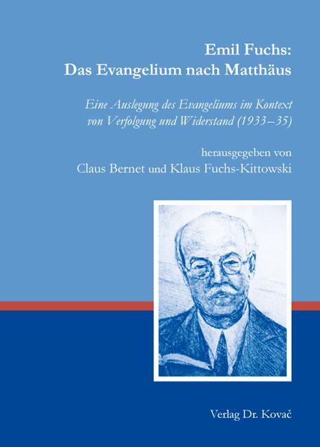 Cover: Emil Fuchs: Das Evangelium nach Matthäus
