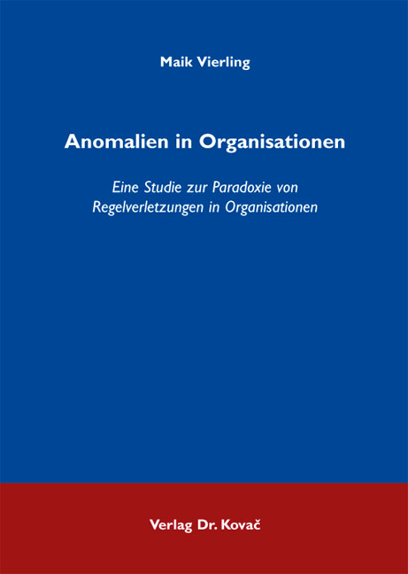 Cover: Anomalien in Organisationen