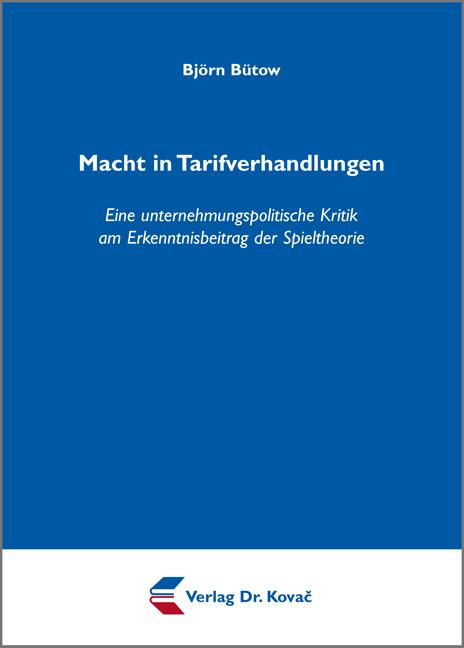 Cover: Macht in Tarifverhandlungen