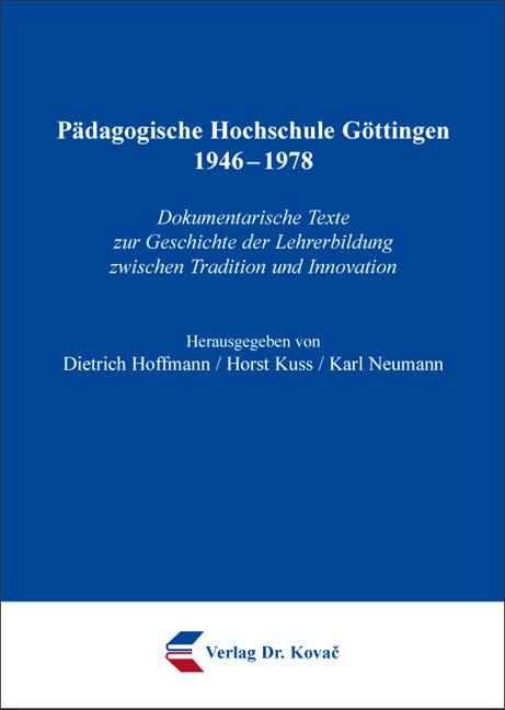 Cover: Pädagogische Hochschule Göttingen 1946–1978