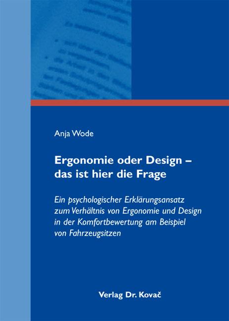 Cover: Ergonomie oder Design – das ist hier die Frage