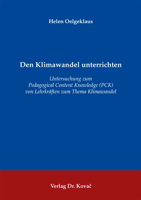 Cover: Den Klimawandel unterrichten
