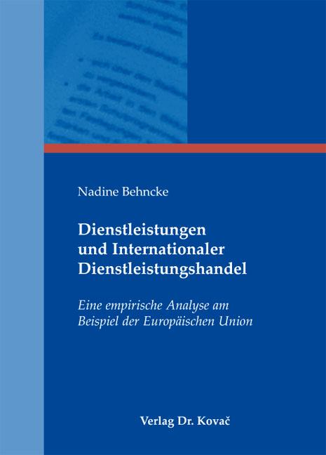Cover: Dienstleistungen und Internationaler Dienstleistungshandel