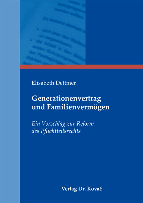 Cover: Generationenvertrag und Familienvermögen