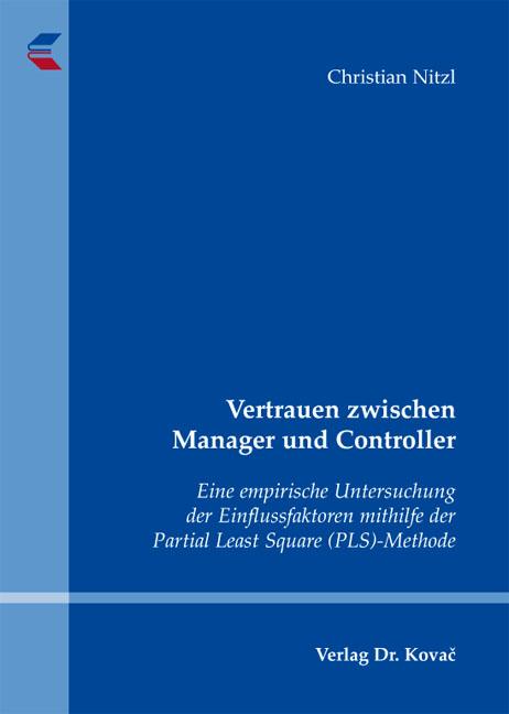 Cover: Vertrauen zwischen Manager und Controller