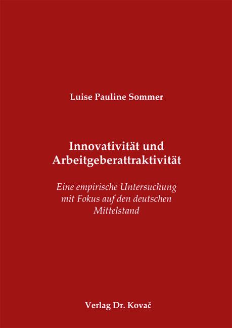 Cover: Innovativität und Arbeitgeberattraktivität