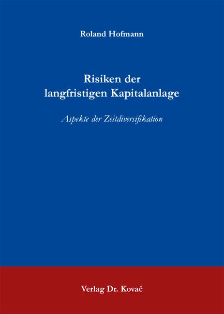Cover: Risiken der langfristigen Kapitalanlage
