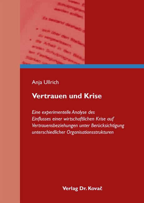 Cover: Vertrauen und Krise