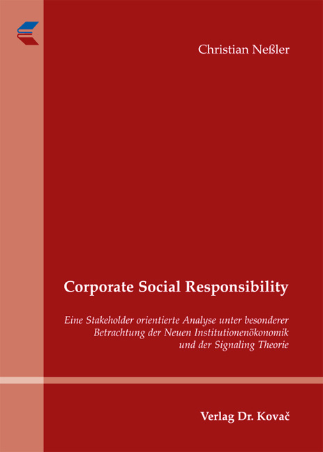 Cover: Corporate Social Responsibility