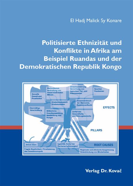 Cover: Politisierte Ethnizität und Konflikte in Afrika am Beispiel Ruandas und der Demokratischen Republik Kongo