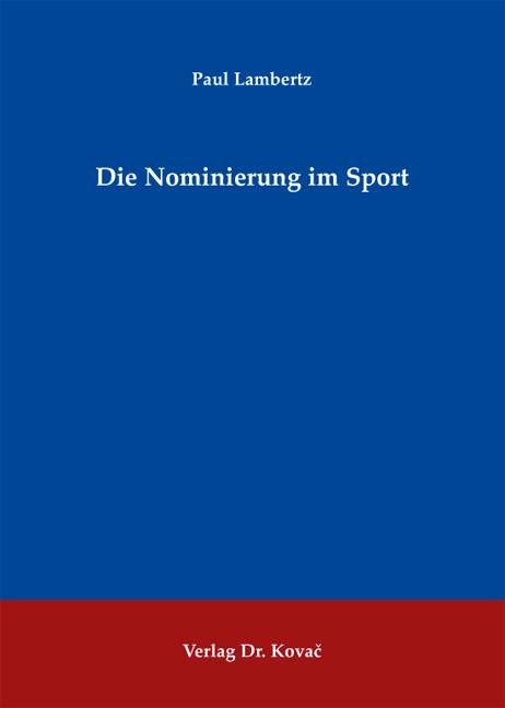 Cover: Die Nominierung im Sport