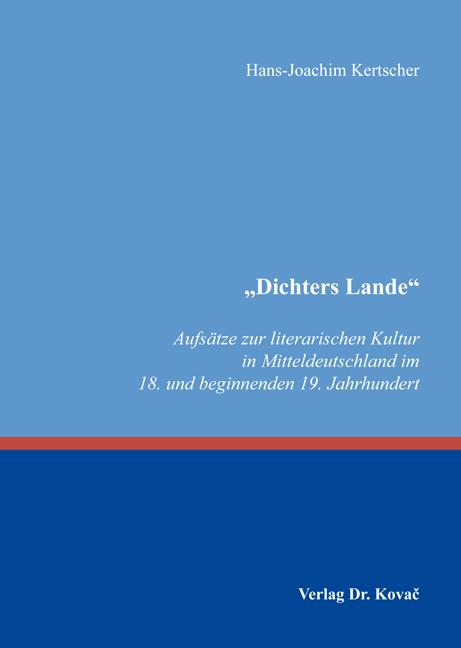 "Cover: ""Dichters Lande"""