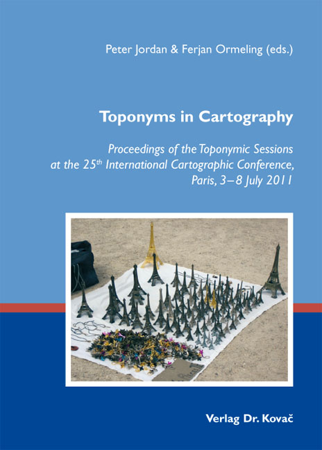 Cover: Toponyms in Cartography