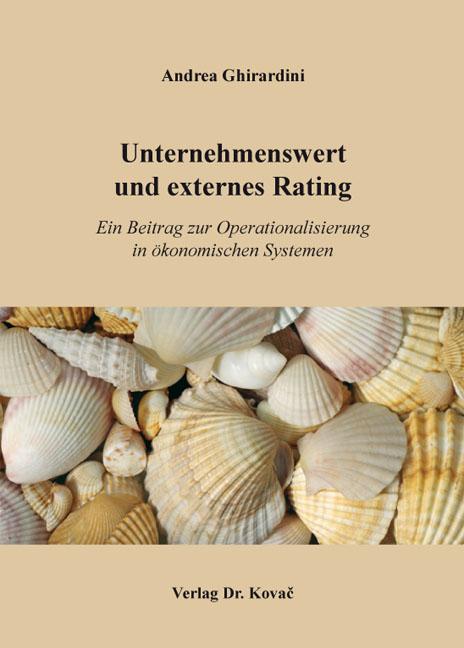 Cover: Unternehmenswert und externes Rating