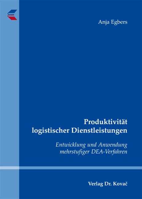 Cover: Produktivität logistischer Dienstleistungen