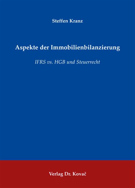 Cover: Aspekte der Immobilienbilanzierung