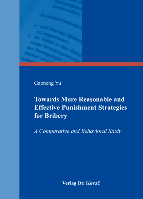 Cover: Towards More Reasonable and Effective Punishment Strategies for Bribery