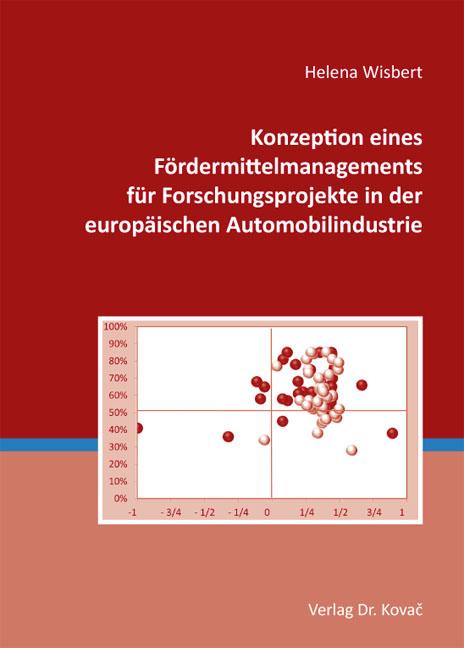 Cover: Konzeption eines Fördermittelmanagements für Forschungsprojekte in der europäischen Automobilindustrie