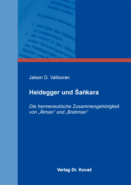 Cover: Heidegger und Śaṅkara