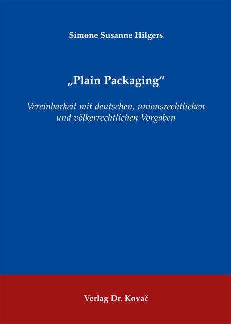 "Cover: ""Plain Packaging"""