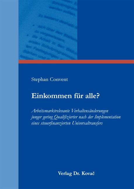 Cover: Einkommen für alle?