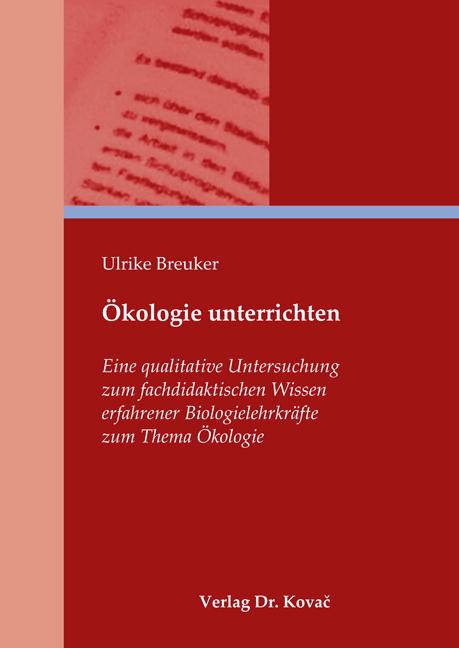 Cover: Ökologie unterrichten