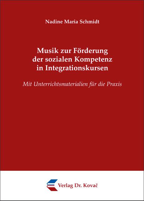 Cover: Musik zur Förderung der sozialen Kompetenz in Integrationskursen