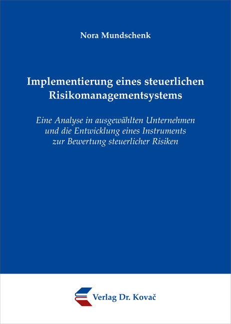 Cover: Implementierung eines steuerlichen Risikomanagementsystems