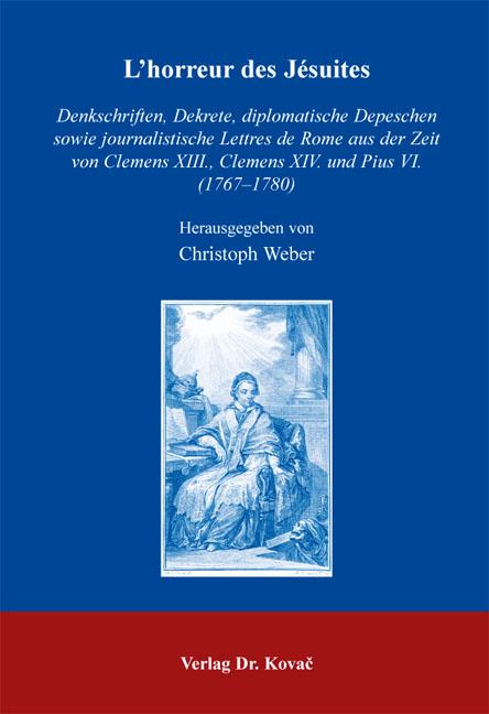 Cover: L'horreur des Jésuites