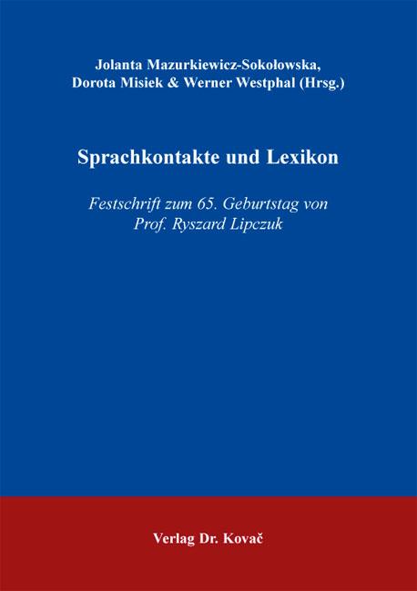 Cover: Sprachkontakte und Lexikon
