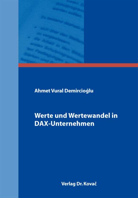 Cover: Werte und Wertewandel in DAX-Unternehmen