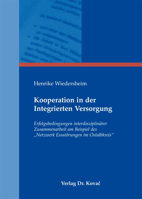 Cover: Kooperation in der Integrierten Versorgung