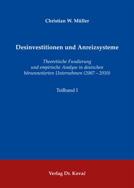 Cover: Desinvestitionen und Anreizsysteme