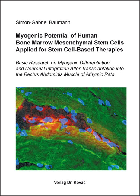 Cover: Myogenic Potential of Human Bone Marrow Mesenchymal Stem Cells Applied for Stem Cell-Based Therapies