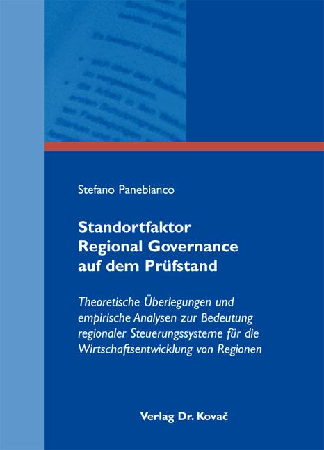 Cover: Standortfaktor Regional Governance auf dem Prüfstand