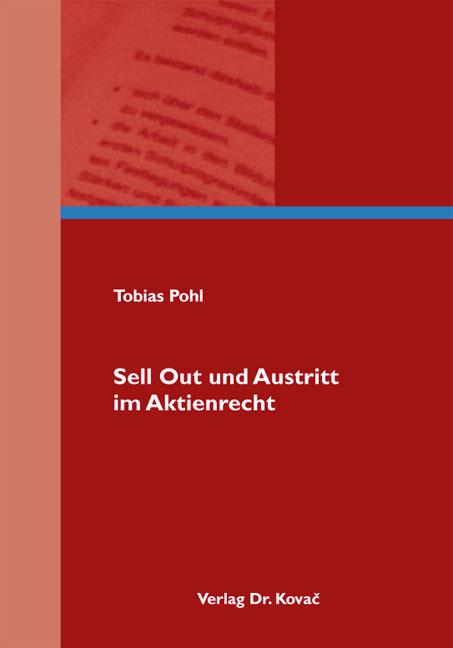 Cover: Sell Out und Austritt im Aktienrecht