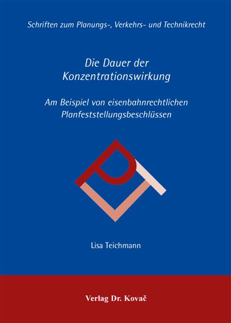 Cover: Die Dauer der Konzentrationswirkung