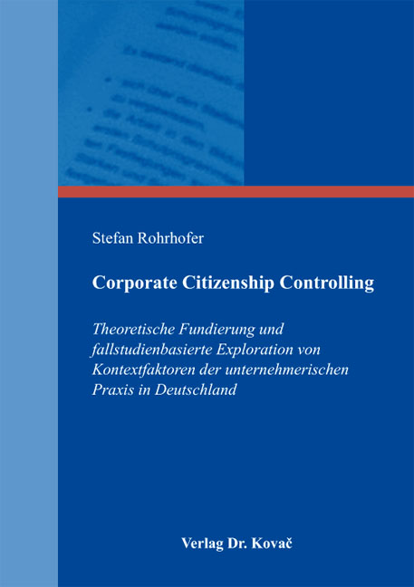 Cover: Corporate Citizenship Controlling