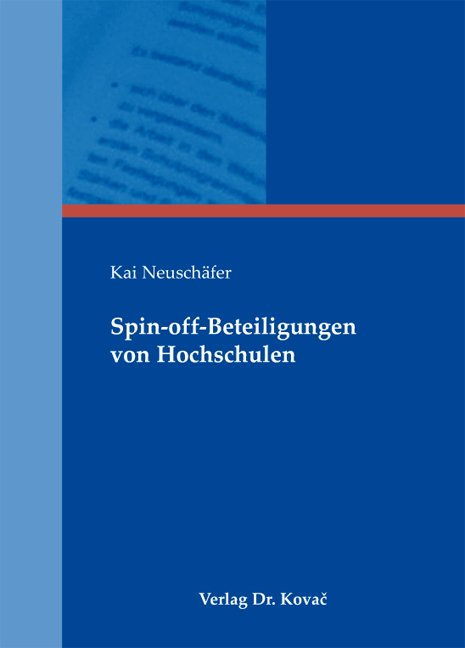 Cover: Spin-off-Beteiligungen von Hochschulen