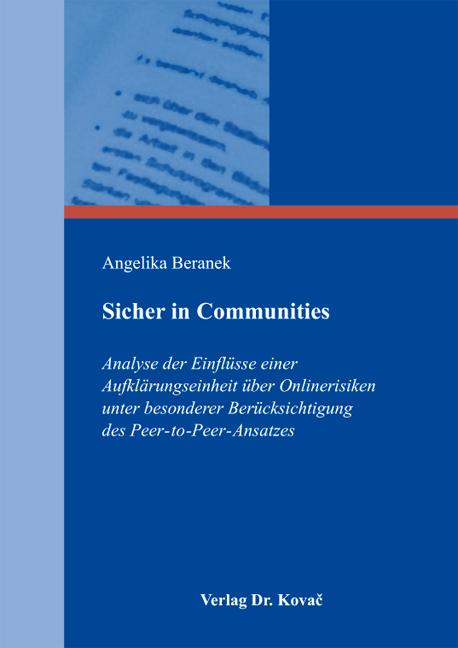 Cover: Sicher in Communities