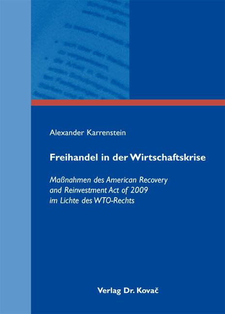 Cover: Freihandel in der Wirtschaftskrise