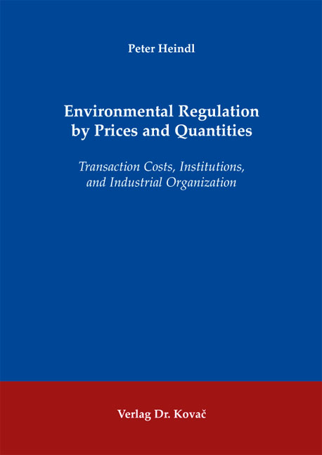 Cover: Environmental Regulation by Prices and Quantities