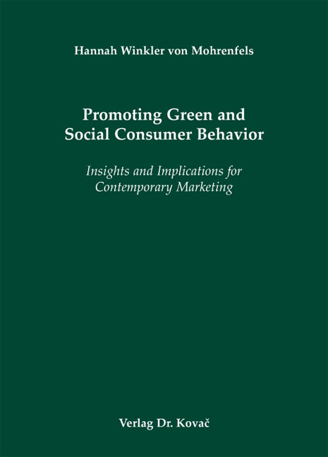 Cover: Promoting Green and Social Consumer Behavior